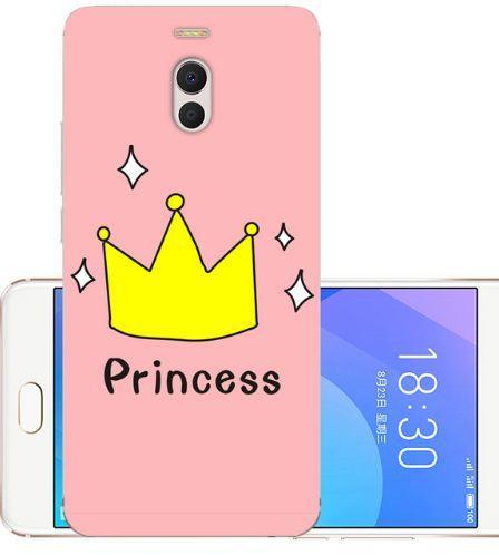 Чехол бампер силиконовый для Meizu M6 Note с картинкой Принцесса