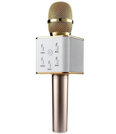 Беспроводной караоке-микрофон bluetooth MHZ Q7 Gold, фото 2