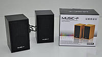 Колонки для ПК компьютера Music-F D-9A Black