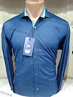 "Мужская рубашка БАТАЛ (52-58) ""Rossi"" - купить оптом со склада ZR-4473"