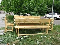 Деревянная мебель для беседок и мангалов в Буче