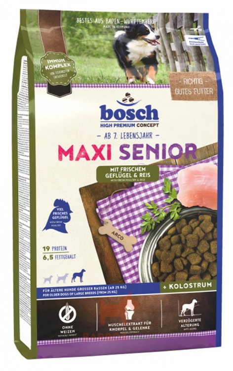 Bosh Maxi Senior с птицей и рисом для пожилых собак 12,5кг