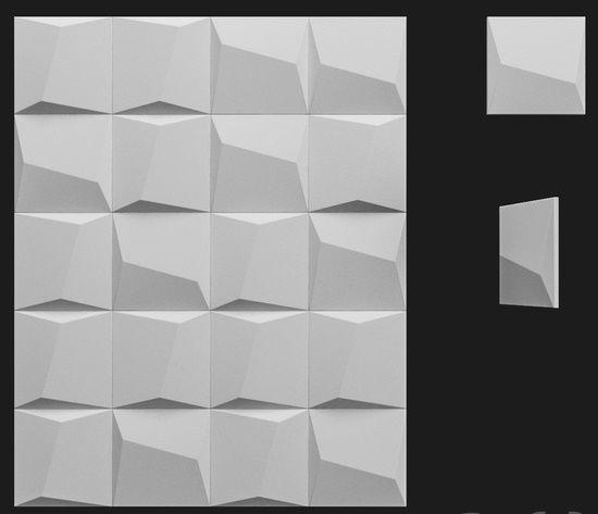 "Пластиковая форма для 3d панелей ""Пронто"" 20*20 x4 (форма для 3д панелей из абс пластика)"
