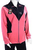 Велюровый женский спортивный костюм K108 5XL, Розовый
