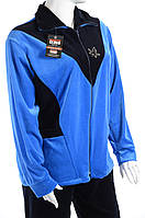 Велюровый женский спортивный костюм K108 Голубой, 3XL