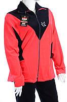 Велюровый женский спортивный костюм кленовый лист K108 Ярко розовый, 3XL