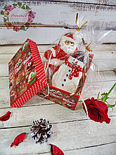Коробка прямокутна новорічна 11*8*8 см