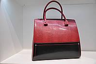 Женская кожаная сумка красная 0036-1065