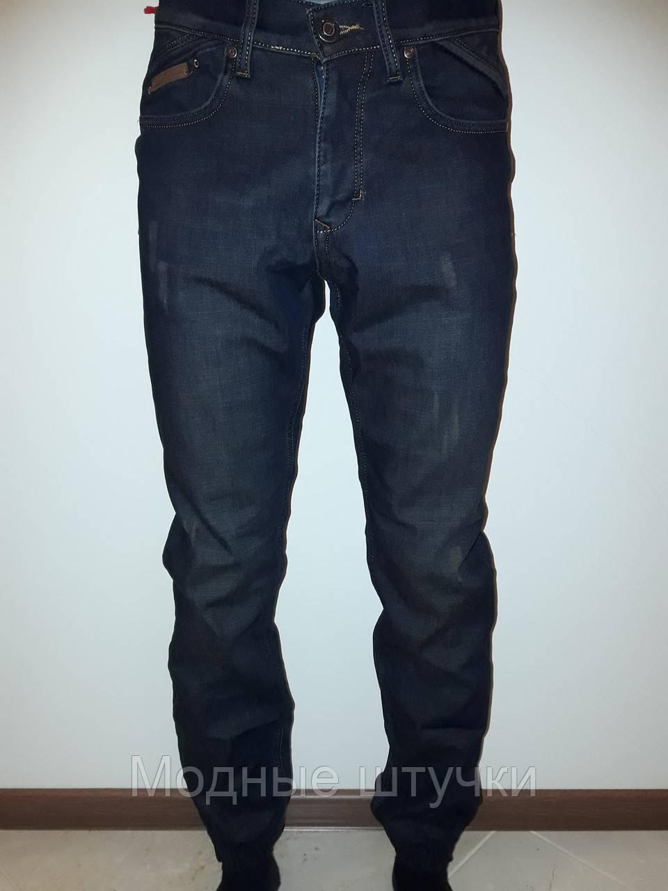 5a8217af52ce Мужские джинсы на резинке утепленные 4667