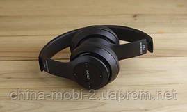 Беспроводная стерео гарнитура wireless headphones P47 (копия beats solo 2) FM/ MP3/bluetooth/SD, BLACK, фото 3