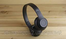 Беспроводная стерео гарнитура wireless headphones P47 (копия beats solo 2) FM/ MP3/bluetooth/SD, BLACK, фото 2