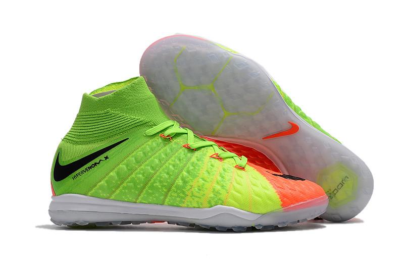 Бутсы сороконожки  Nike HypervenomX Proximo TF red/green с носком