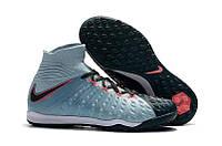 Бутсы сороконожки  Nike HypervenomX Proximo TF blue с носком, фото 1
