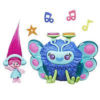 Игровой набор тролли Розочка и музыкальный жук DreamWorks Trolls Poppy's Wooferbug Beats Hasbro Оригинал