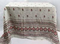 Скатертная ткань Рогожка украинская расцветка под Лён