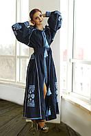 Платье с вышивкой СЖ 871-17а макси платье Вышитое платье Длинное платье Вечернее платье