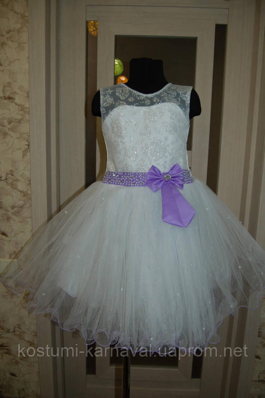 Белое Праздничное Платье для девочки , Бальное платье для девочки 5 -7 лет