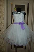 Белое Праздничное Платье для девочки , Бальное платье для девочки 5 -7 лет, фото 1