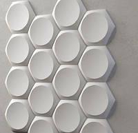 "Пластикова форма для 3d панелей ""Сегмент"" 19 * 17,5 x5 (форма для 3д панелей з абс пластика)"