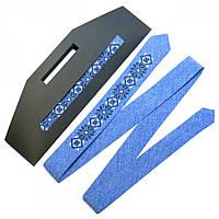 Тонкий вышитый  галстук. 3 цвета!, фото 1