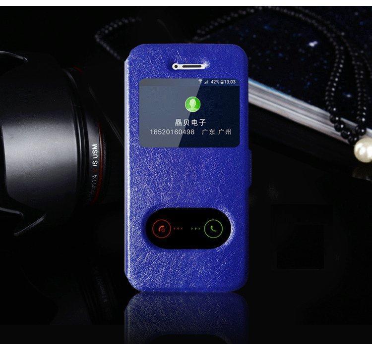 Чехол-книжка Holey для iPhone 5/5S/5SE blue