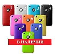 """Силиконовый чехол """"10 цветов"""" iphone 3/3S"""