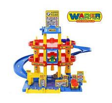 Гараж - паркинг 3 уровня с машинками Wader 37893