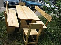 Деревянная мебель для беседок и мангалов в Никополе
