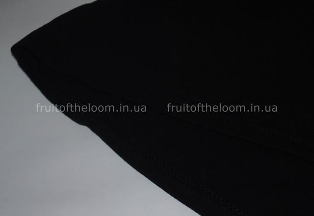 Чёрная женская футболка с длинным рукавом