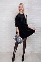 Нарядное платье женское велюр р.44-48 AR98930-3