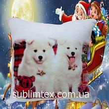 """Подушка с полной запечаткой ST """"Dog twins"""""""
