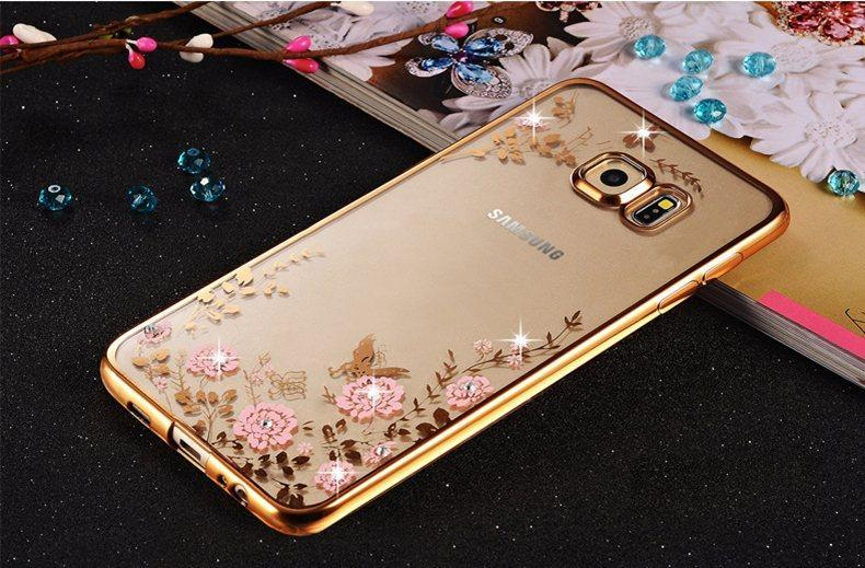 Чехол силиконовый TPU Glaze gold для Samsung Galaxy S6 Edge+/G928