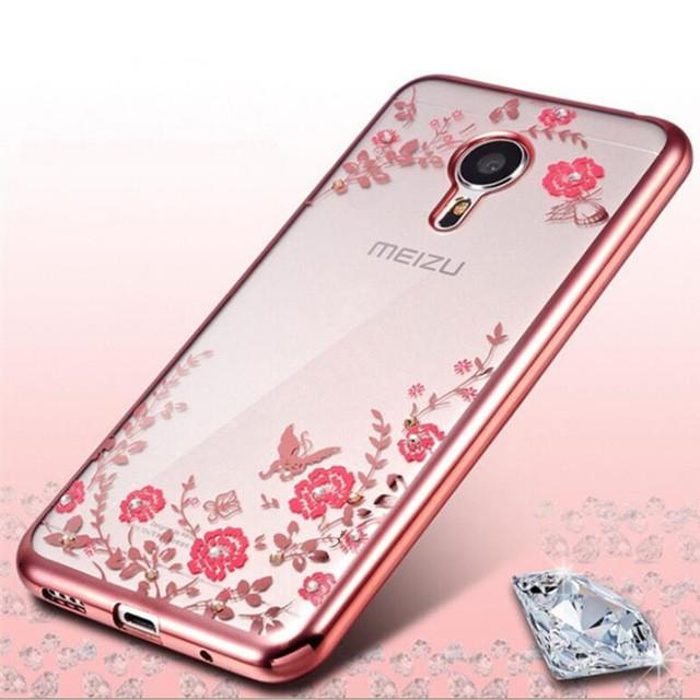 Чехол силиконовый TPU Glaze rose gold для Meizu M3 Note