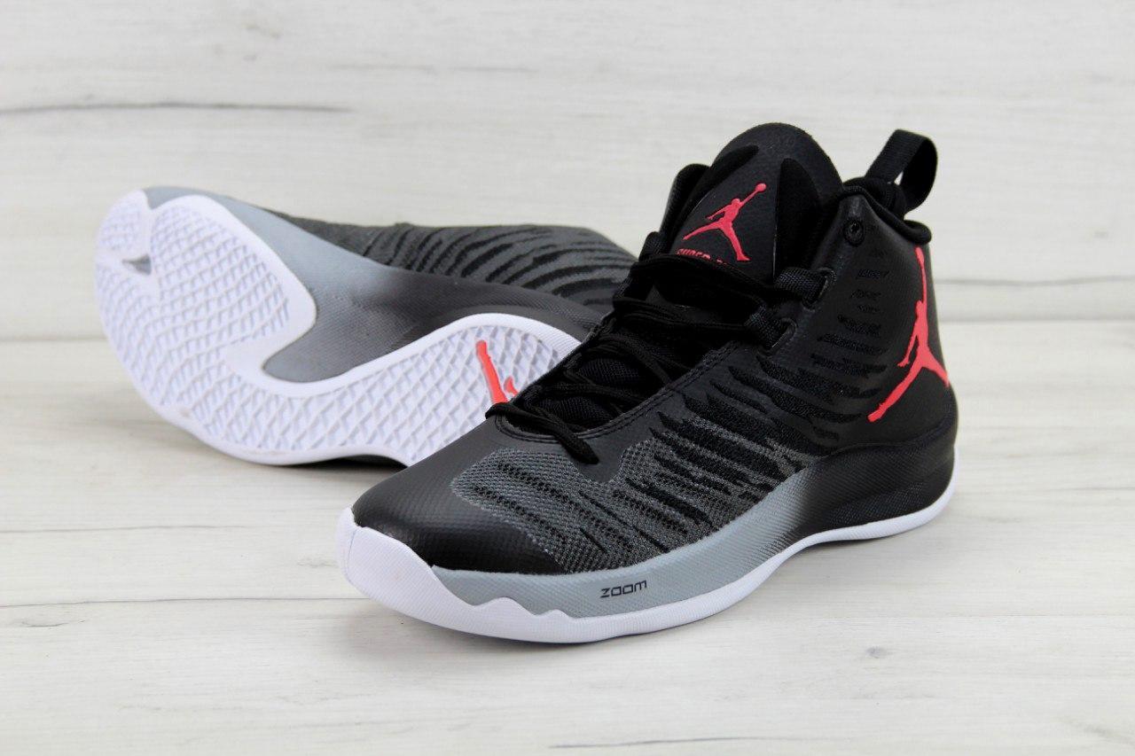 ... Баскетбольные кроссовки Nike Air Jordan Super Fly 5 X Black Black Wolf  Grey Infrared 23 9c64b15a3e437