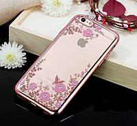 Чехол силиконовый TPU Glaze rose gold для iPhone 5/5S/5SE