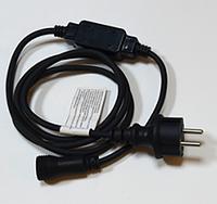 Шнур питания для светодиодных гирлянд DELUX (EN) черныйIP44 Код.59158