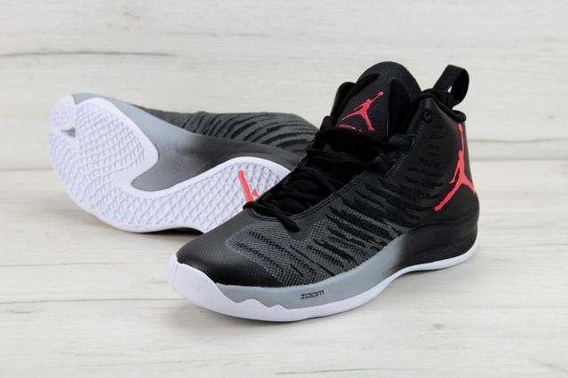 Nike Air Jordan Super Fly 5 X Black Black Wolf Grey Infrared 23