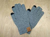Перчатки мужские для сенсорных экранов Touch Screen SnowMaster gray