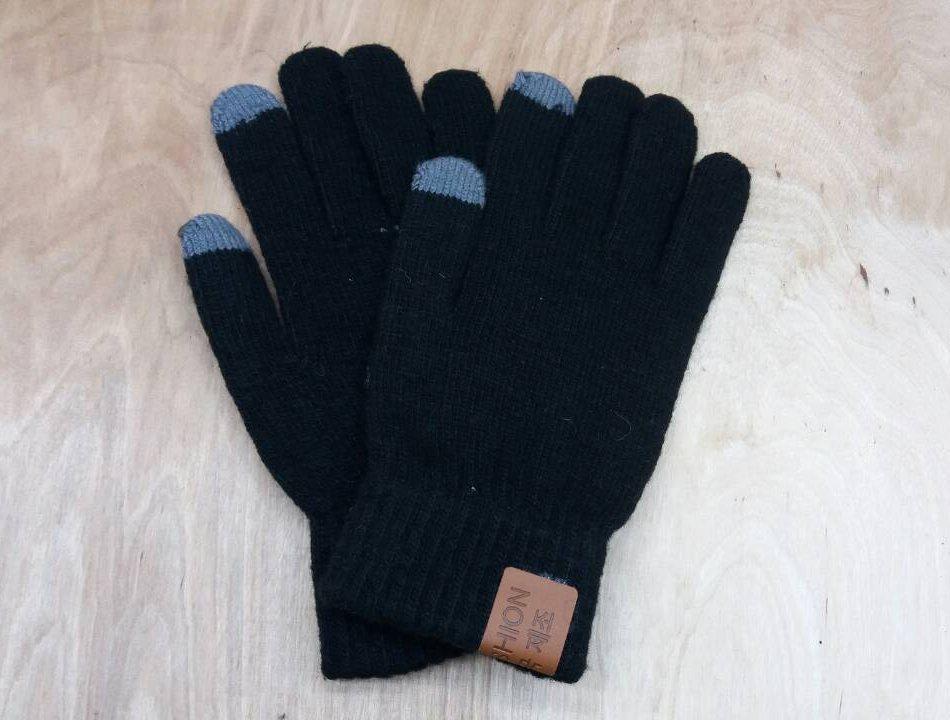 Перчатки мужские для сенсорных экранов Touch Screen SnowMaster black