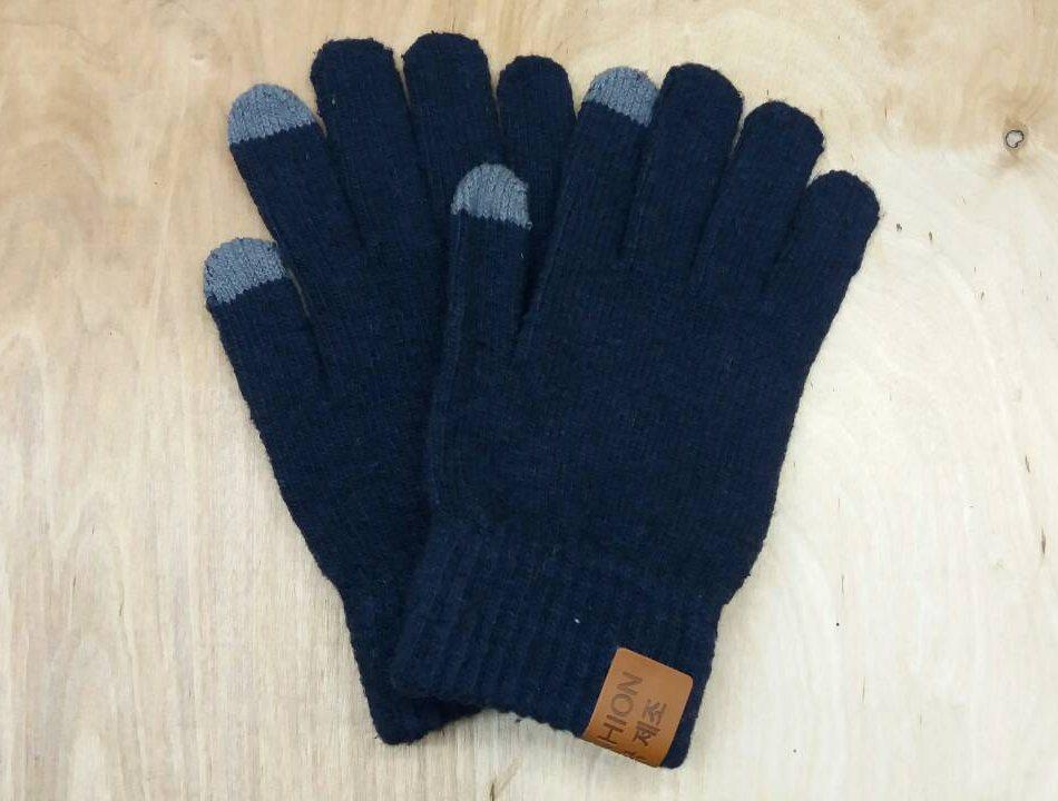 Перчатки мужские для сенсорных экранов Touch Screen SnowMaster dark blue