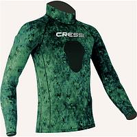 Лайкровая камуфляжная футболка для подводной охоты Cressi Sub Green Hunter