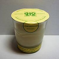 Арома свеча в стакане ЭКО с ароматом Лемонграсса   170гр Д=8см Н=8,5см