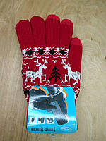 Перчатки для сенсорных экранов Touch Gloves Bordo deer (бордовый)