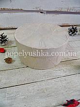 Коробка кругла бежева 14,5*7 см