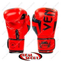 Боксерские перчатки кожаные Venum Elite Neo BO-5238-R (р-р 10-12oz, красный)
