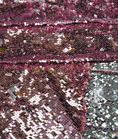 Паеточная ткань розовая
