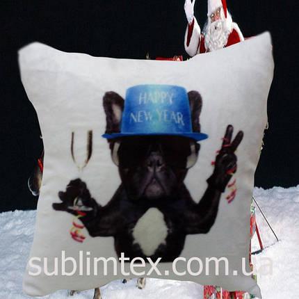"Подушка с полной запечаткой ST ""Black dog with a glass"", фото 2"