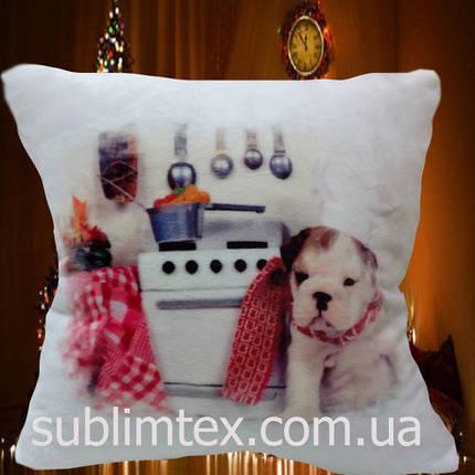"""Подушка с полной запечаткой ST """"Dog cook"""", фото 2"""