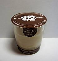 Арома свеча в стакане ЭКО с ароматом ШОКОЛАДА   170гр Д=8см Н=8,5см