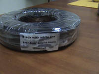 Кабель питания черн. красн. полоса 2x7/0.19мм (2х0,2мм2)